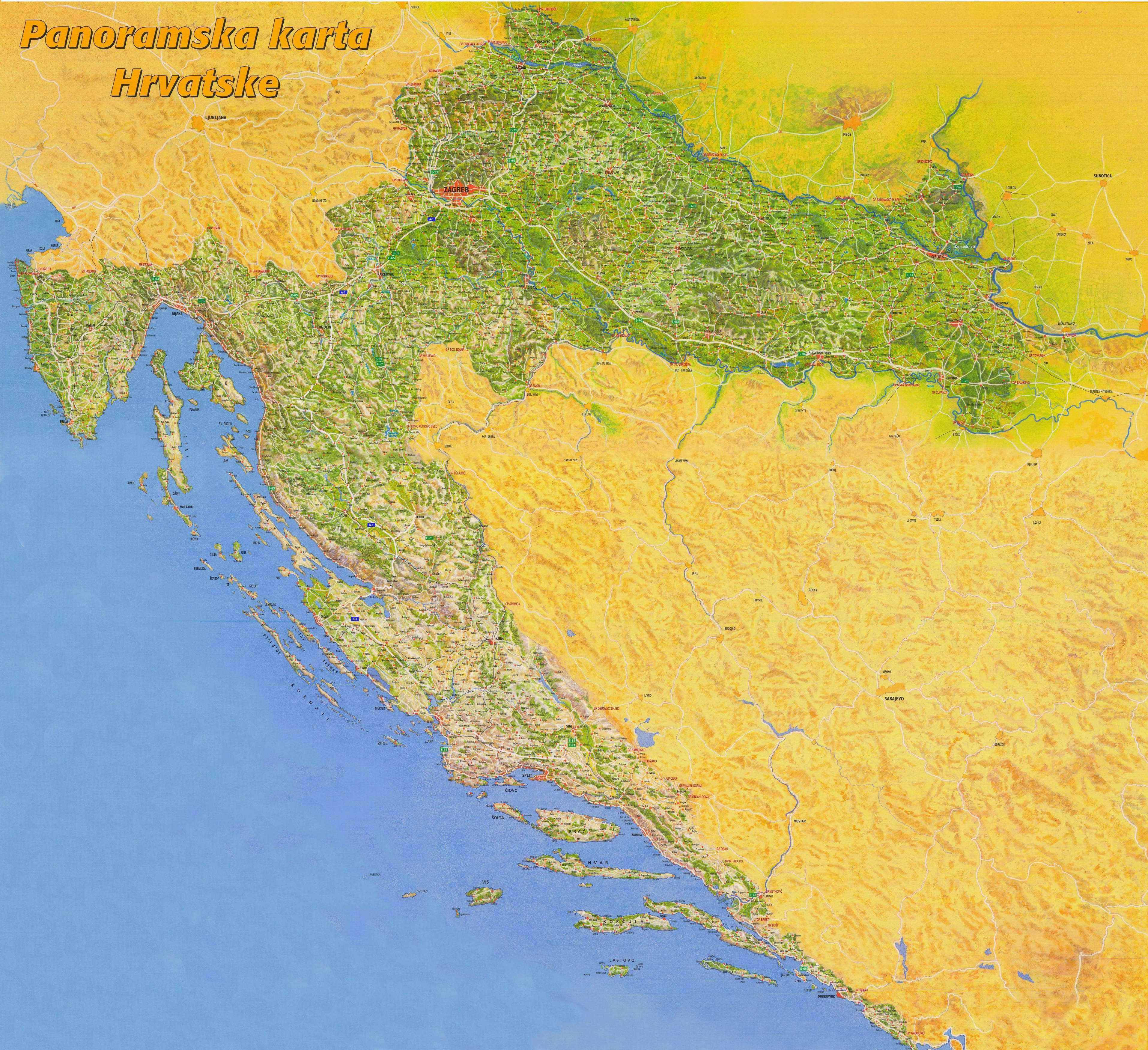 Alf img - Showing > Mapa Chorvatska